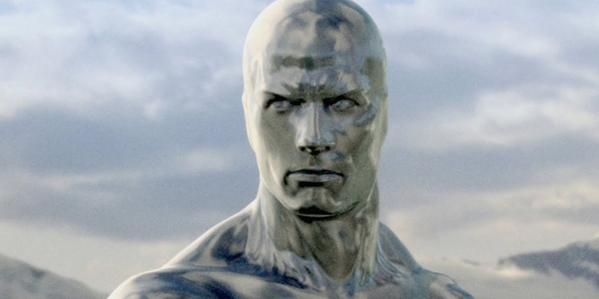 Doug Jones and Laurence Fishburne in Fantastic Four: Rise of the Silver Surfer