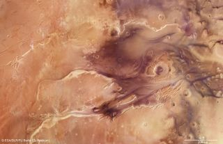 Mosaic of Kasei Valles on Mars