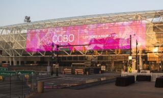 GableVision Erects LED Display on Cobo Center Exterior