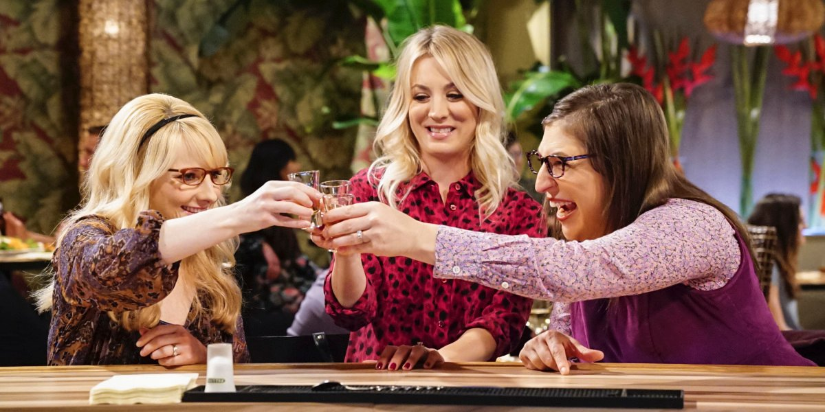 bernadette penny amy drinking the big bang theory cbs