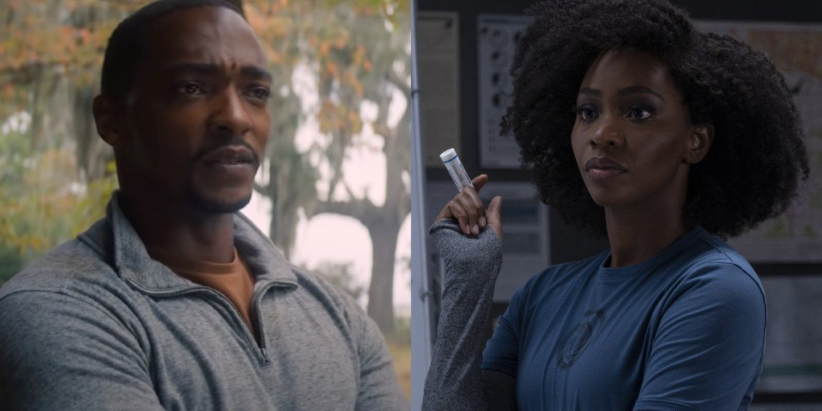 Anthony Mackie and Teyonah Parris in their respective Disney+ series