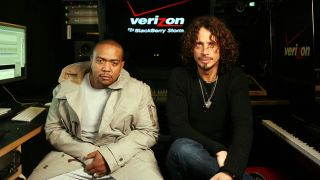 Chris Cornell and Timbaland in the studio