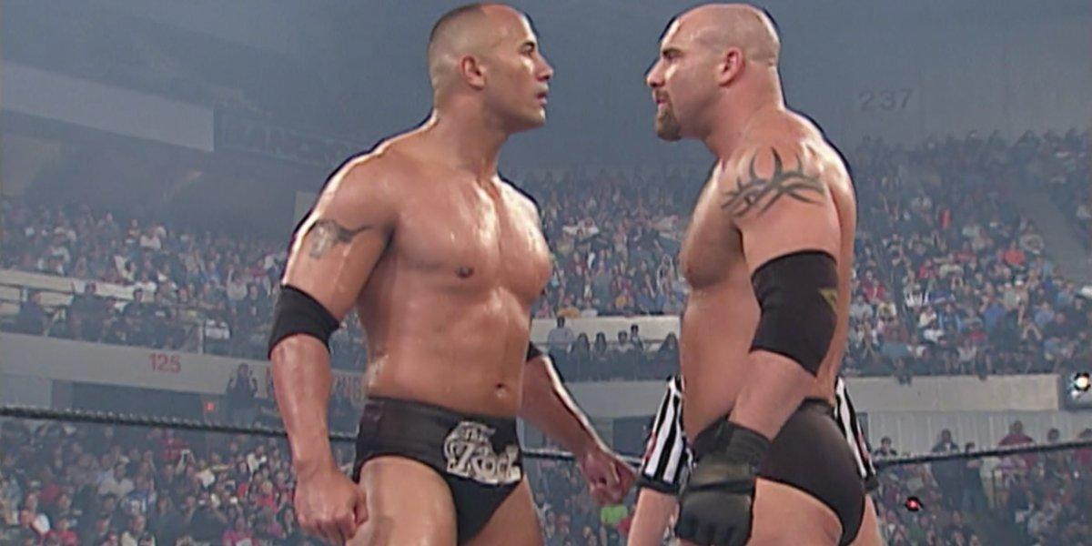 The Rock and Goldberg at Backlash 2003