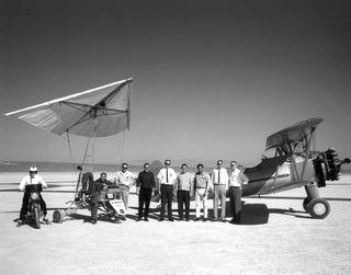 space history, Stearman Sport Biplane, crew