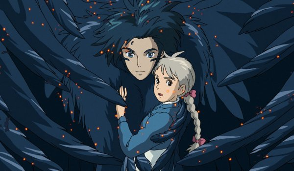 Howl's Moving Castle Howl holds a girl in his bird form