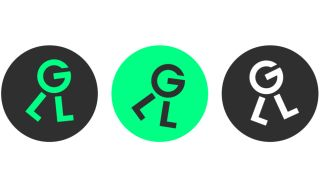 Three different iterations of the Green Light logo: A Letter G which appears to be walking on two letter Ls.