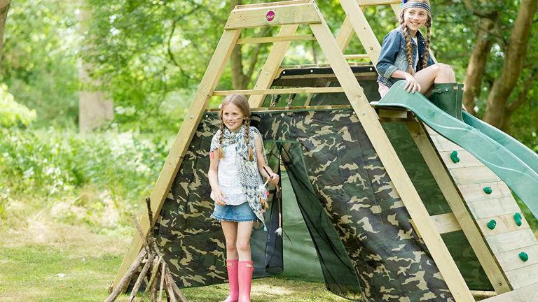 Climbing frame deal: Plum Climbing Pyramid Wooden Play Centre