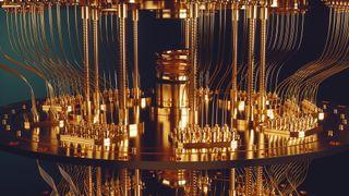 quantum computer stock image