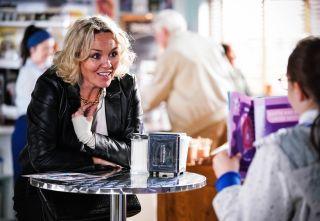 Janine Butcher talks to Scarlett Butcher in EastEnders