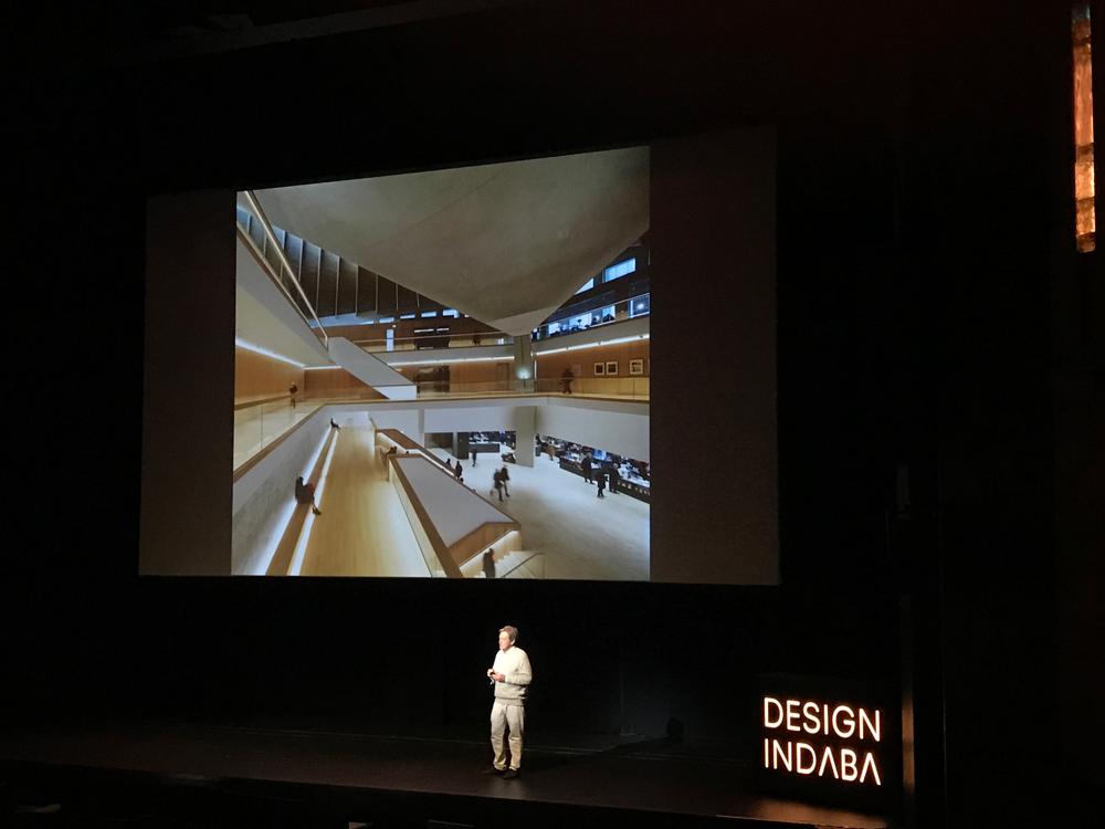 John Pawson on stage at Design Indaba
