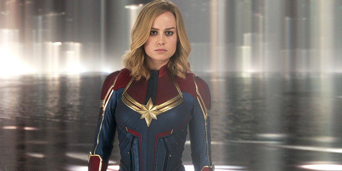 Brie Larson as Captain Marvel in her solo movie Marvel Studios