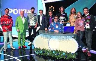 Fresh from recording his Christmas album, Xander Armstrong is back at the day job, inviting some famous faces in from the cold for a festive round of Pointless.
