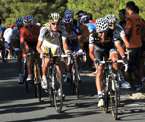 Carlos Sastre and Tejay Van Garderen, Vuelta a Espana 2010, stage 8