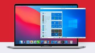 Parallels fDesktop for Mac on a MacBook Pro