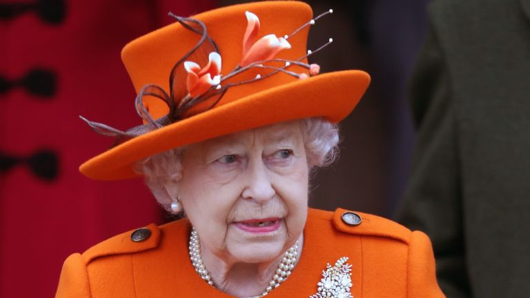Queen Elizabeth II attends Christmas Day Church service at Church of St Mary Magdalene