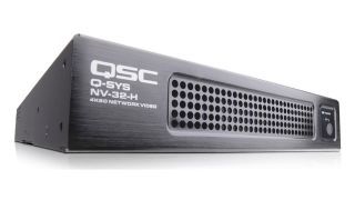 QSC has begun shipping the Q-SYS NV Series (NV-32-H) network video endpoint.