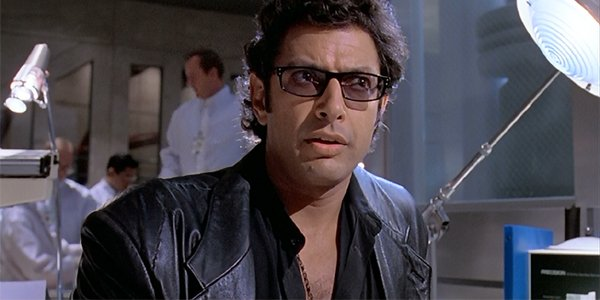 Jeff Goldblum as ian Malcolm in Jurassic Park