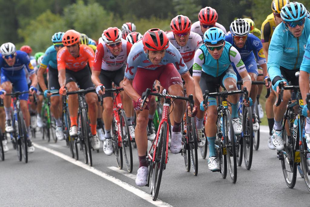 Willie Smit (Katusha-Alpecin) attacks on Stage 12 of the Vuelta a Espana