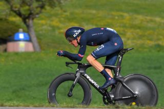 ORON SWITZERLAND APRIL 27 Geraint Thomas of The United Kingdom and Team INEOS Grenadiers during the 74th Tour De Romandie 2021 Prologue a 405km Individual Time Trial stage from Oron to Oron 700m ITT TDR2021 TDRnonstop UCIworldtour on April 27 2021 in Oron Switzerland Photo by Luc ClaessenGetty Images