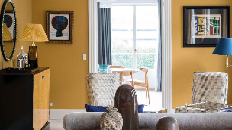 Farrow & Ball India Yellow in living room