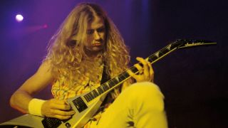 Dave Mustaine of Megadeth live in 1990