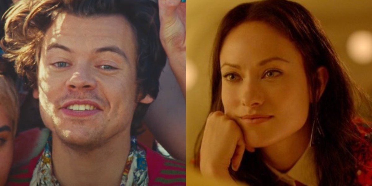 Harry Styles in Watermelon Sugar music video and Olivia Wilde in Her