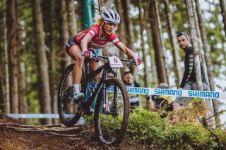 Switzerland's Jolanda Neff competes during the Womens Cross Country competition of the UCI Mountain Bike World Cup in Leogang Austria on June 13 2021 Austria OUT Photo by JFK various sources AFP Austria OUT Photo by JFKEXPAAFP via Getty Images
