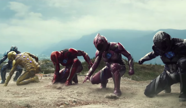 Power Rangers getting ready to fight