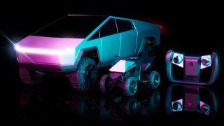 The Mattel Cybertruck RC car