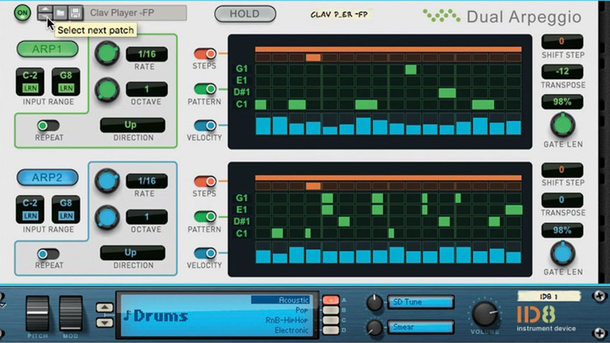 How to use an arpeggiator to creatively sequence drums
