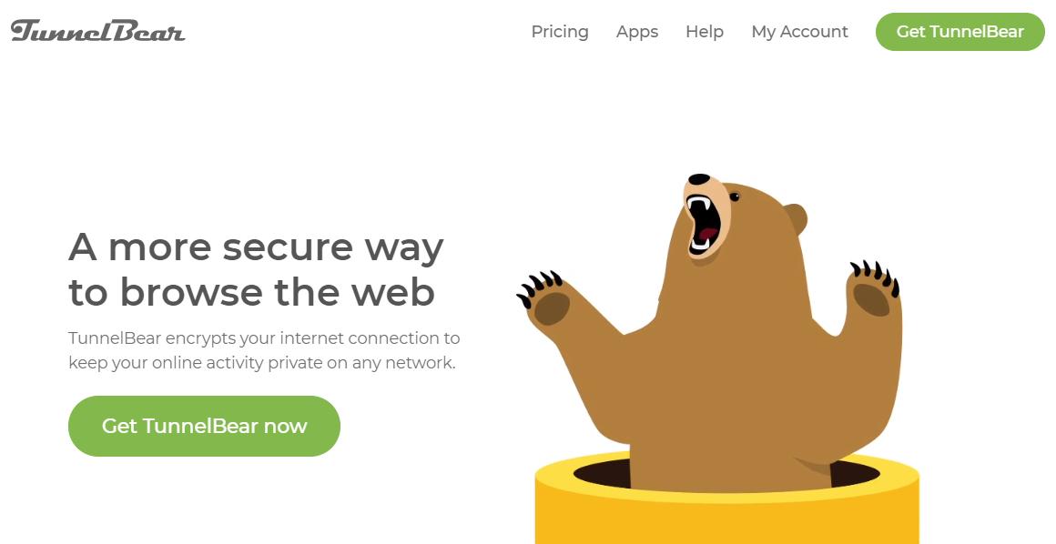 TunnelBear review - TunnelBear homepage