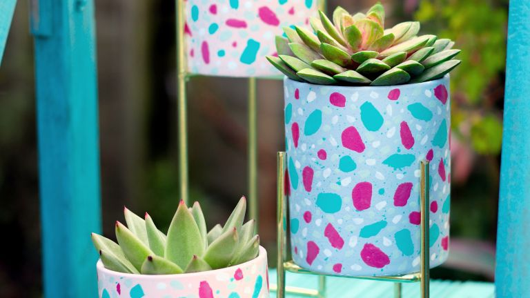 How to decorate a plant pot