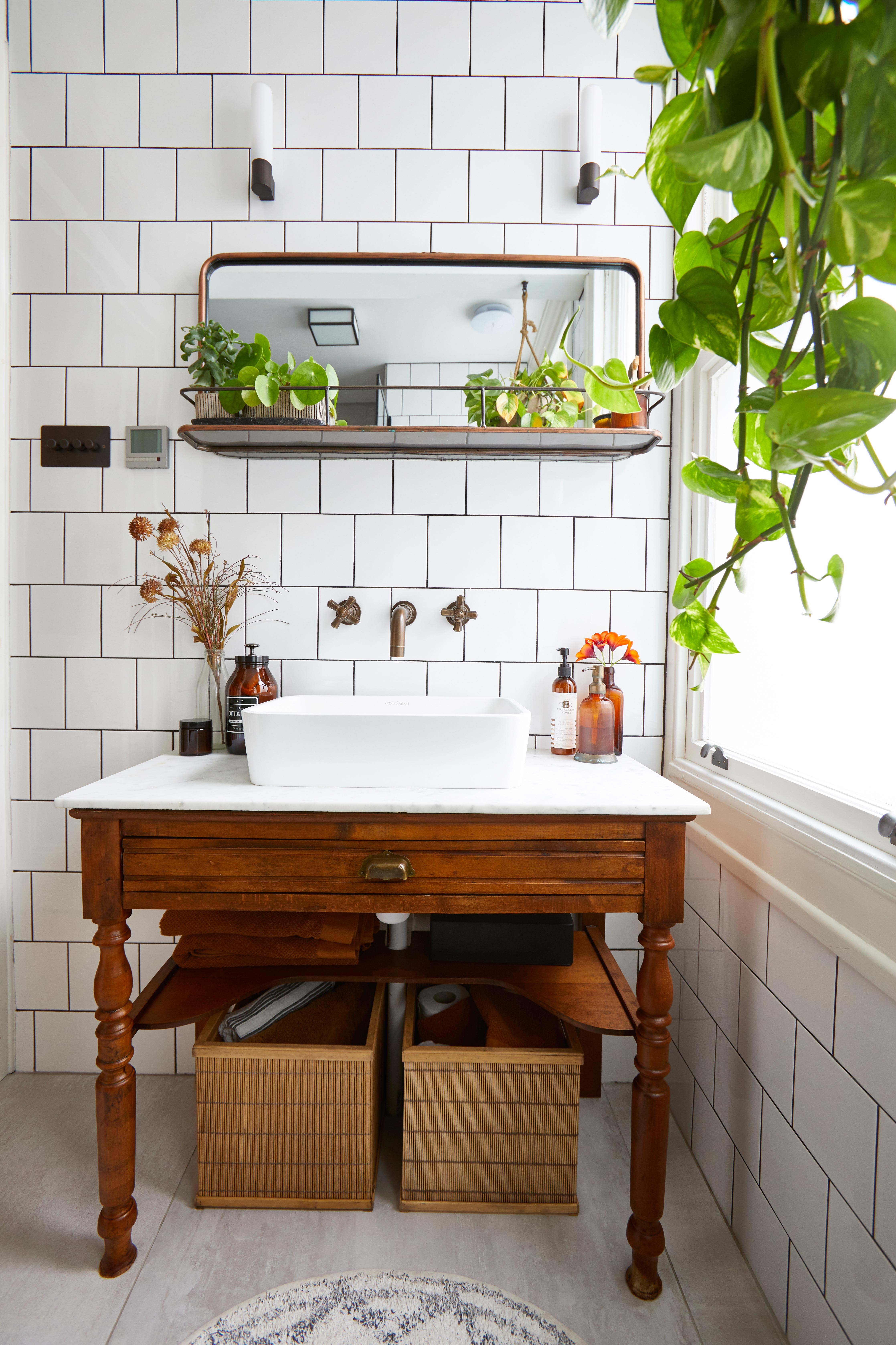 Bathroom Storage Ideas 29 Sleek, Wicker Bathroom Shelving Units