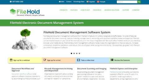 Filehold Systems homepage
