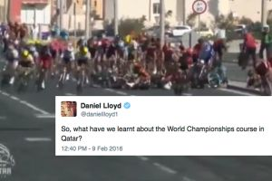 Twitter reacts to the Doha World Champs course after crash in Tour of Qatar