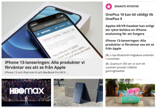 TechRadar Sverige startsida