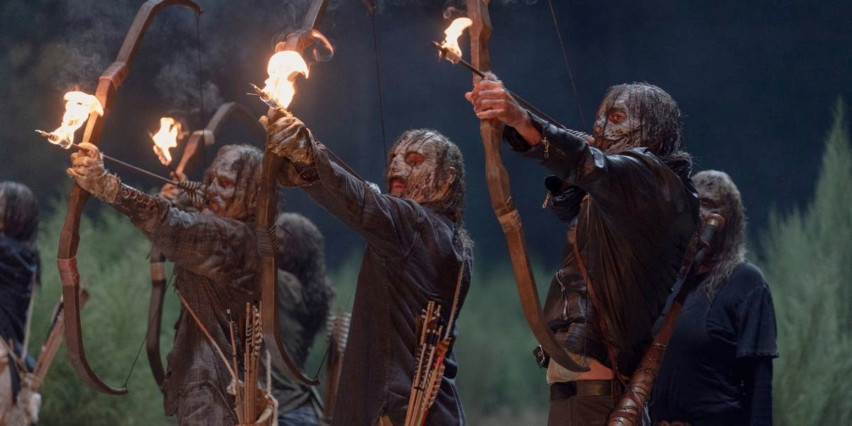 The Whisperers in The Walking Dead.