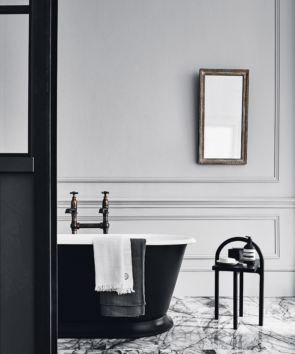 Grey bathroom ideas – decorate with warm, neutral and cool tones