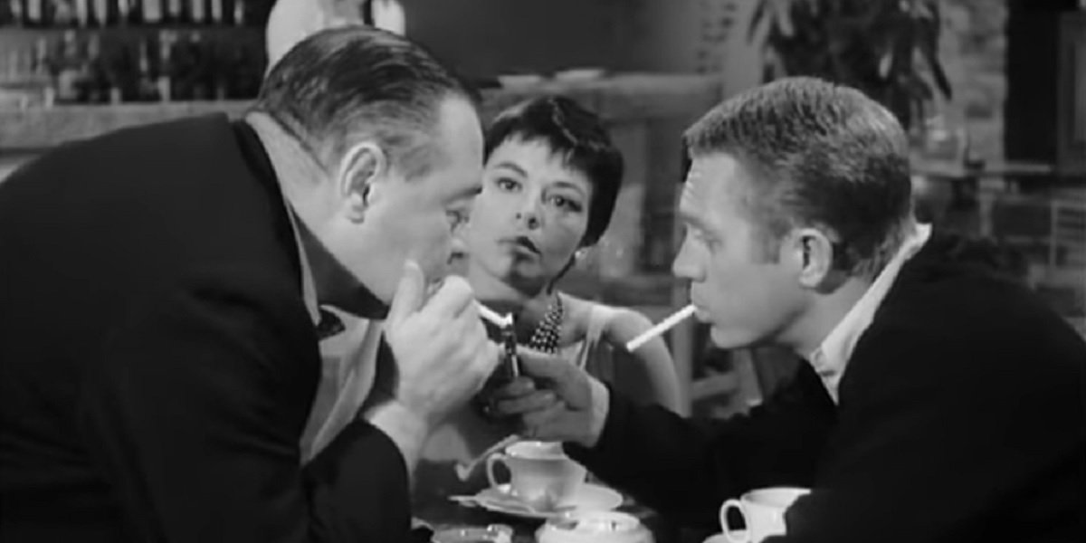 Steve McQueen, Neile Adams, and Peter Lorre in Alfred Hitchcock Presents Man From The South
