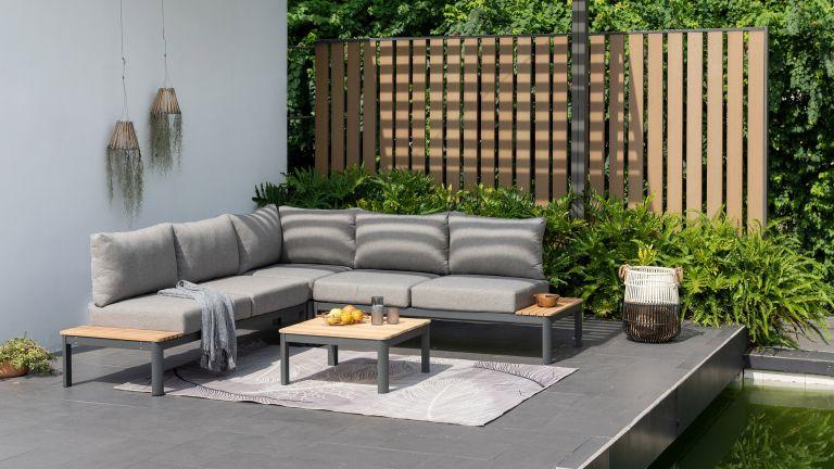designbotschaft GmbH grey corner sofa on small patio ideas