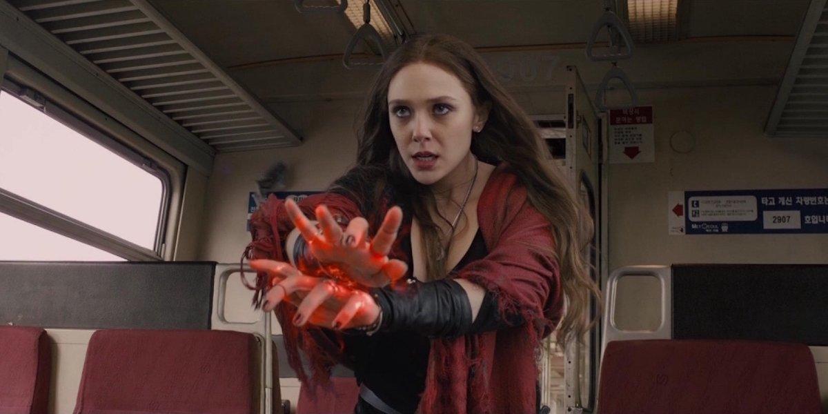 Elizabeth Olsen as Scarlet Witch in Avengers: Age of Ultron