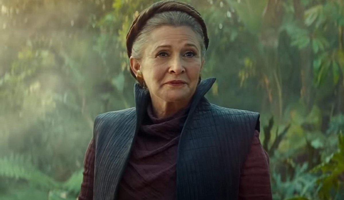 Star Wars: The Rise of Skywalker General Leia smiling on the jungle planet