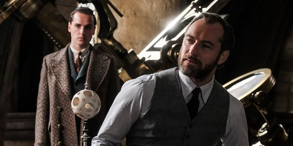 Jude Law as Dumbledore in Fantastic Beasts 2
