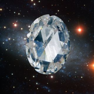 Diamonds in the sky could really exist if scientists are right that planets made of up to 50 percent diamond are possible.