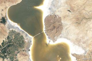 Lake Oroumieh in Iran