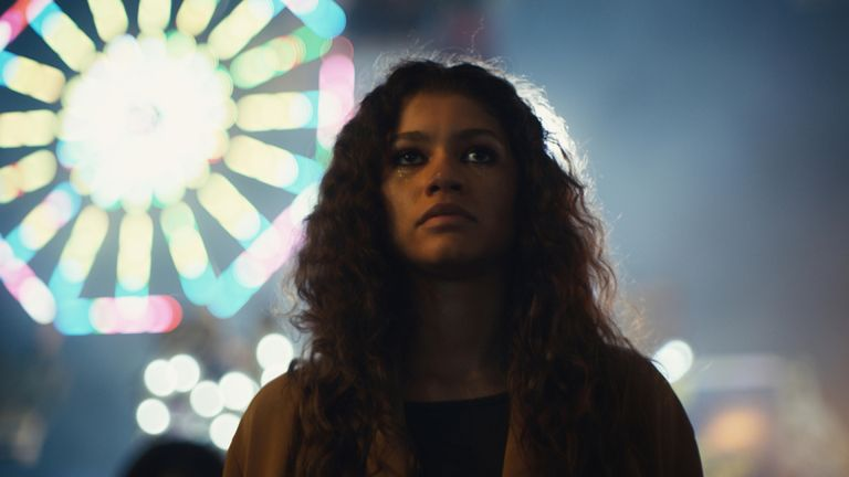 Zendaya as Rue Bennett in Euphoria