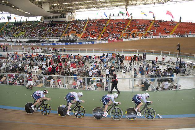 Great Britain team pursuit track world championships 2014