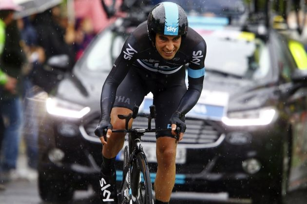 Mikal Landa on stage nine of the 2016 Giro d'Italia