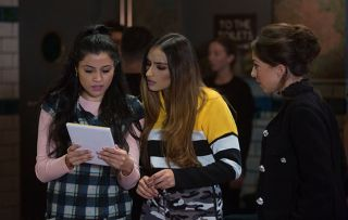EastEnders Iqura Ahmed and Habiba Ahmed and Ruby Allen