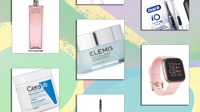 A selection of products available in Amazon Prime Day 2021 from calvin klein eternity perfume to a shark vacuum cleaner and oral b toothbrush to elemis marine collagen cream